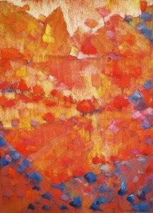 site dekoninckferey au coeur de la montagne pastel sec 80 x 60 cm