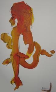 site dekoninckferey le dérapage encre et crayon 60 x 50 cm