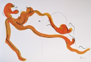 site dekoninckferey le raccourci de la jambe encre 60 x 80 cm