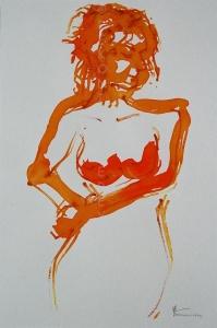site dekoninckferey nu en mouvement encre et crayon 40 x 30 cm