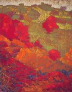 site dekoninckferey auprès de l'écurie pastel 40 x 30 cm